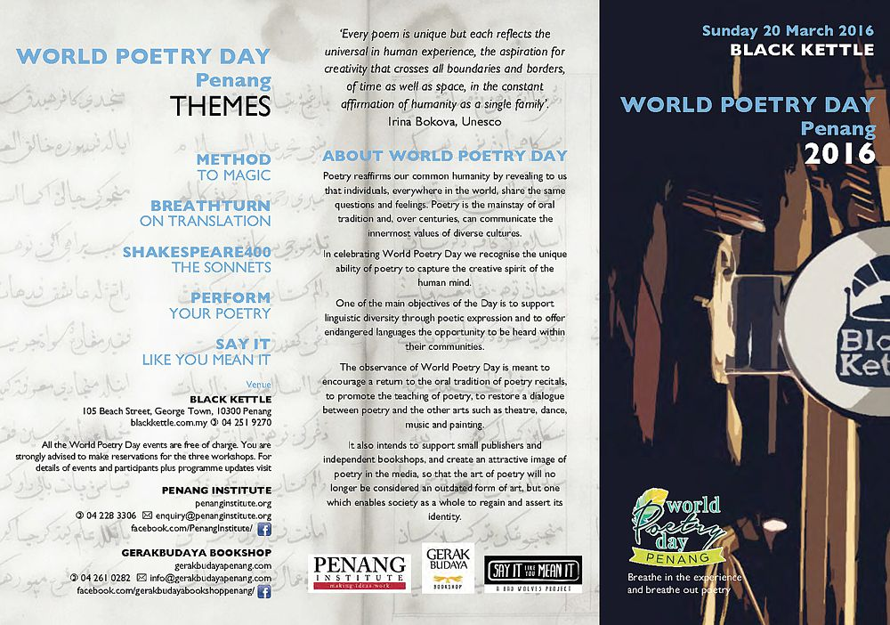 WORLD POETRY DAY flyer Page 1