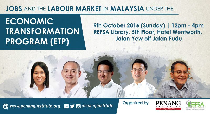 jobs labour market in malaysia under etp