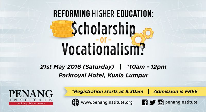 scholarship or vocationalism