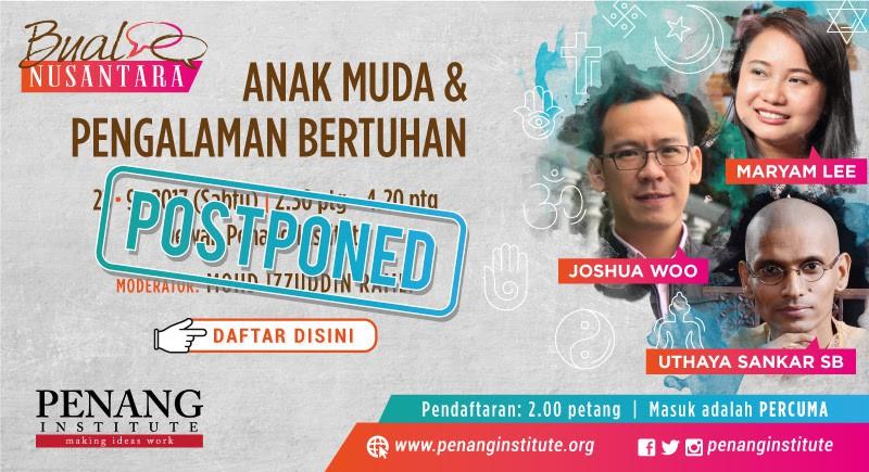 anak muda dan pengalaman bertuhan postponed