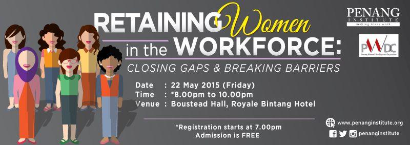 retaining women in the workforce banner